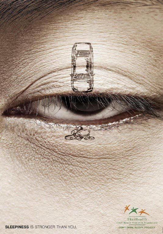 Шедевры рекламы - Не водите машину сонным