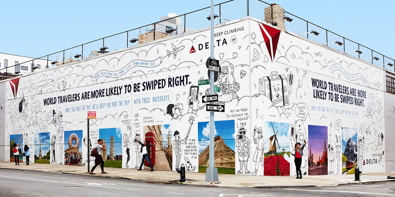 Шедевры рекламы - Delta Dating Wall