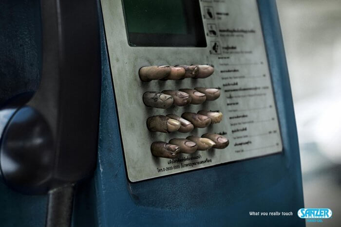 Шедевры рекламы - Анти-бактериальный Гель для Рук «Sanzer»
