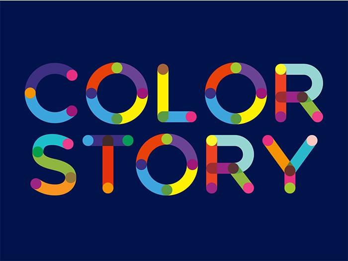 Яркая надпись Color Story