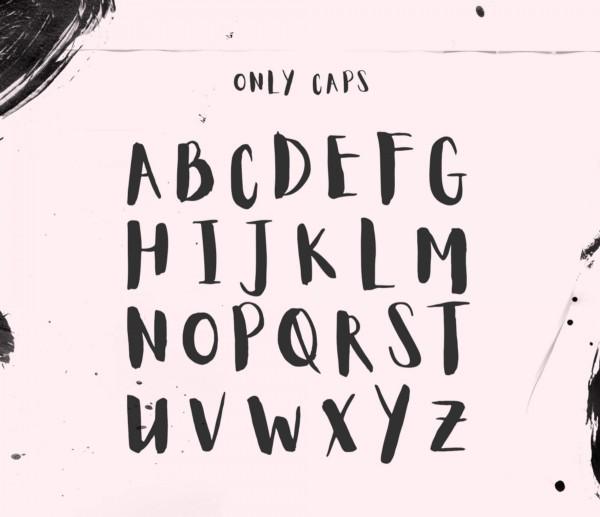 Буквы шрифтом Aloja