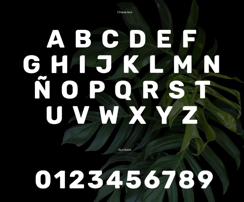 Символы шрифта Cunia