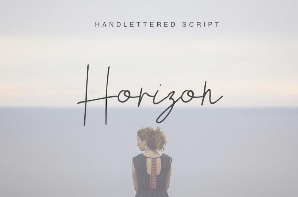 Картинка со шрифтом Horizon