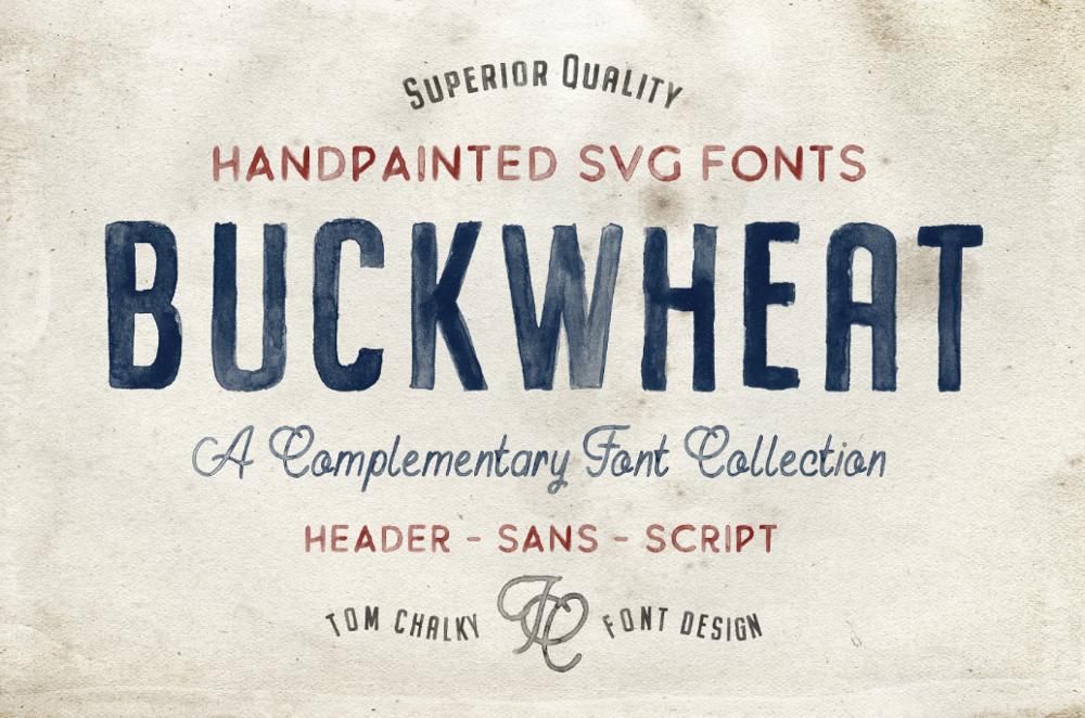 Шрифт под краску Buckwheat