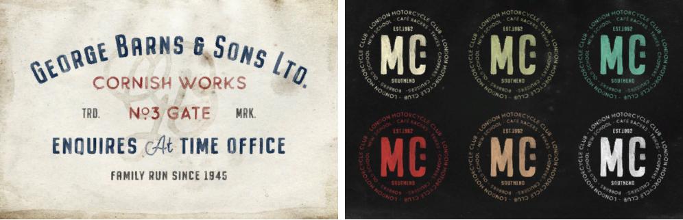 Примеры типографики Buckwheat