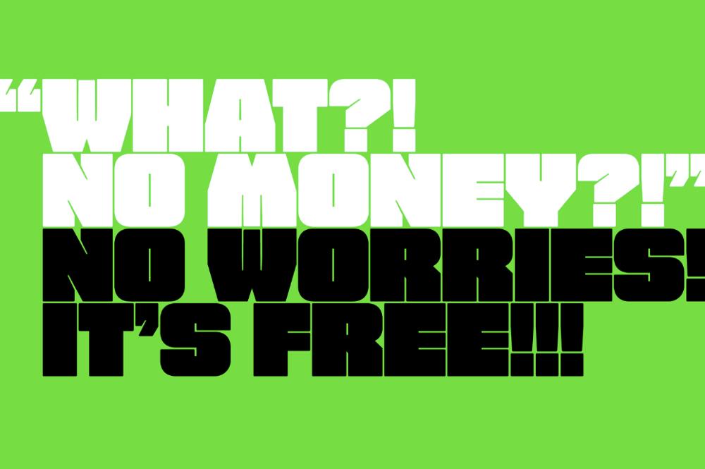 Лучший грубый шрифт Free Fat Font