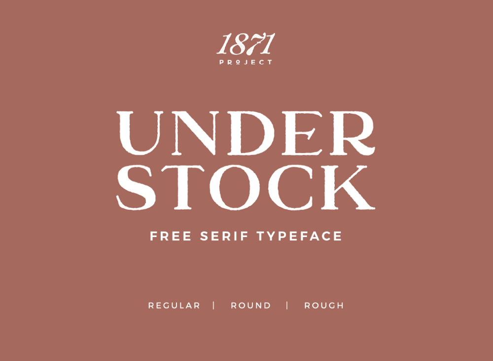 Винтажный шрифт Understock