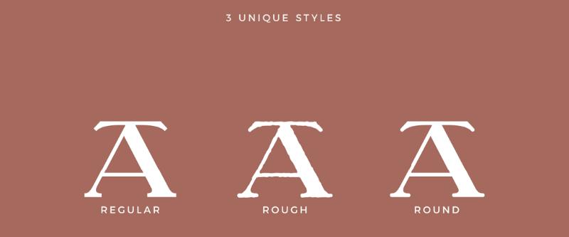 Символы шрифта Understock