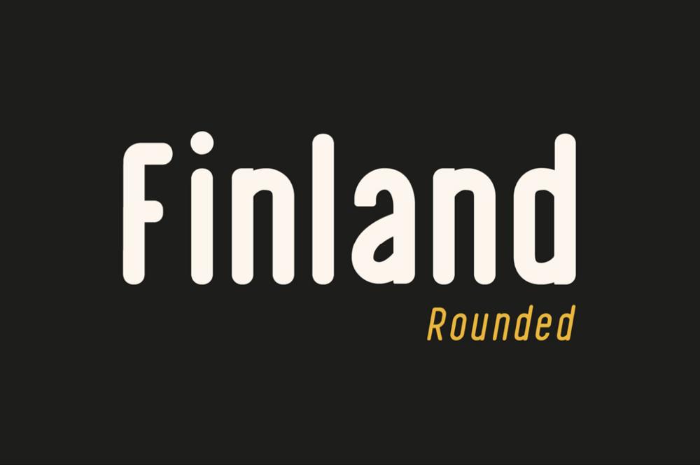 Заставка шрифта Finland
