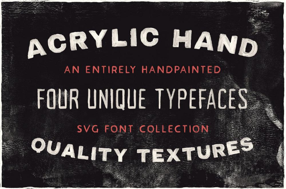 Шрифт под акрил Acrylic Hand Thick