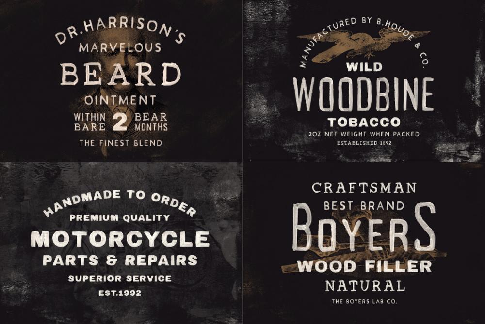 Примеры типографики Acrylic Hand Thick