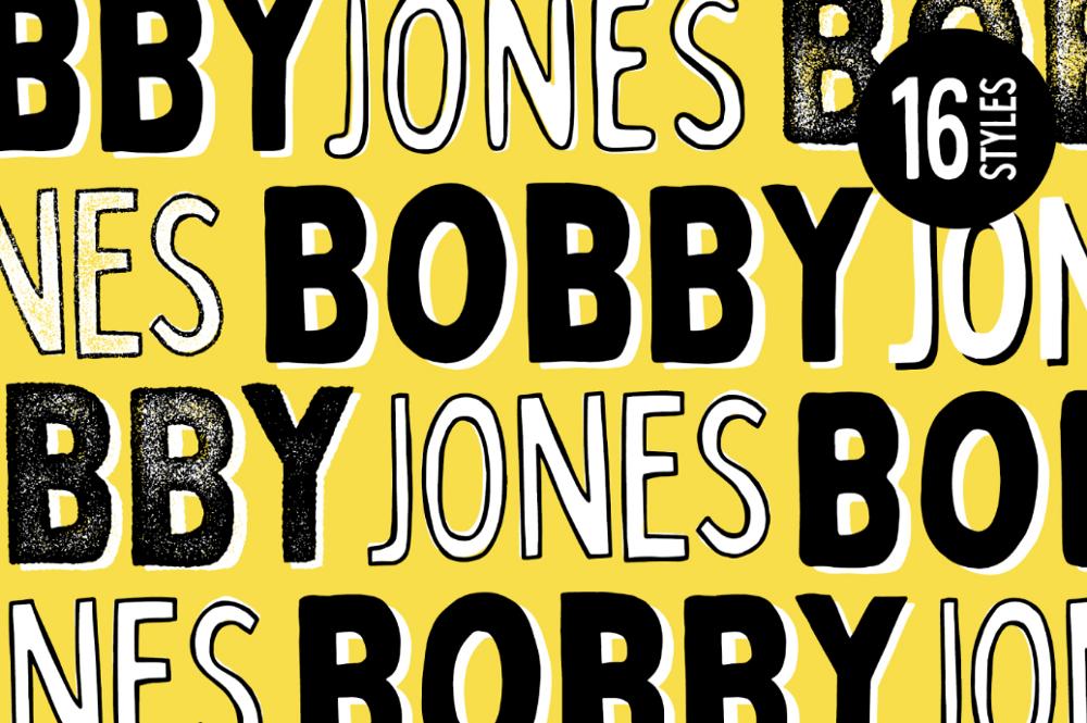 Яркий шрифт Bobby Jones