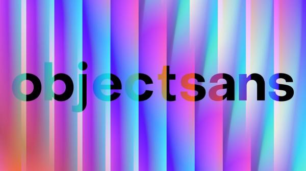 Пример шрифта Object Sans