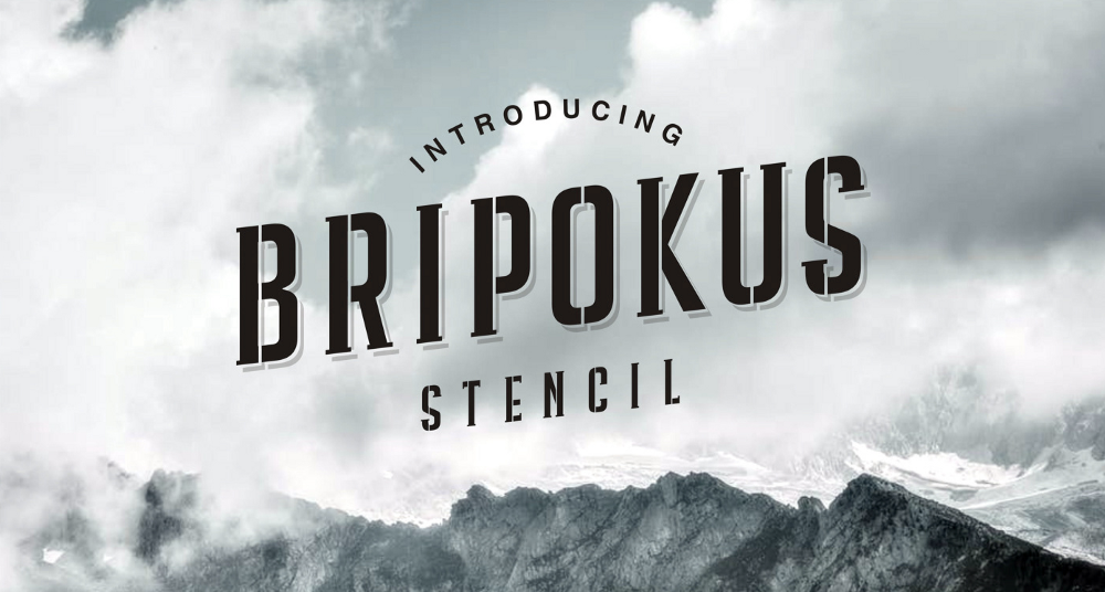 Крутой шрифт Bripokus