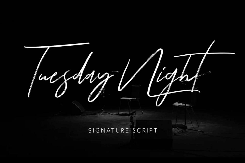 Рукописный шрифт Tuesday Night