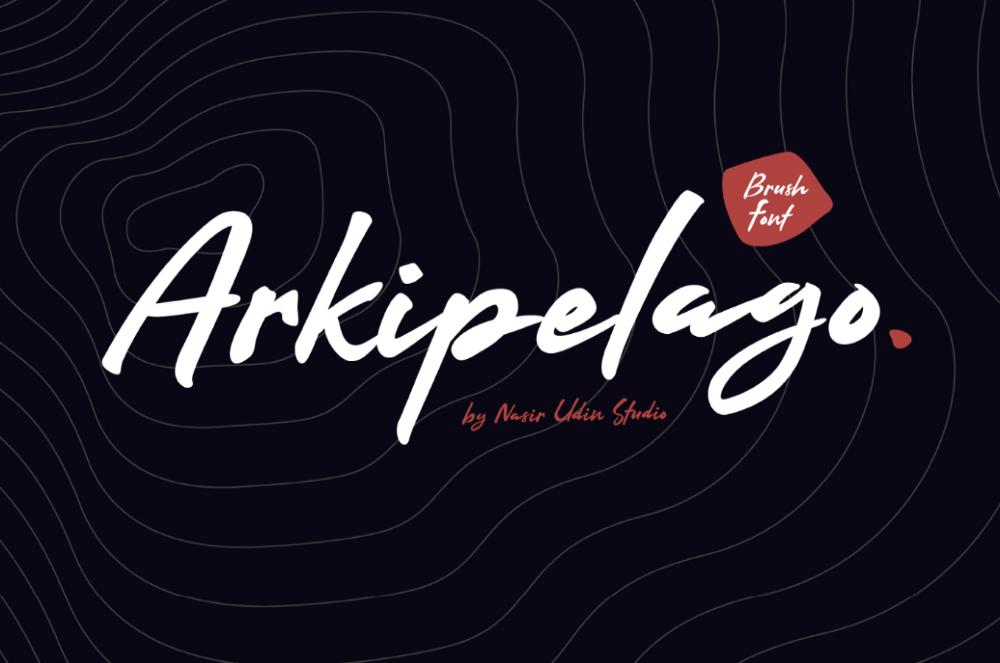 Основная картинка шрифта Arkipelago