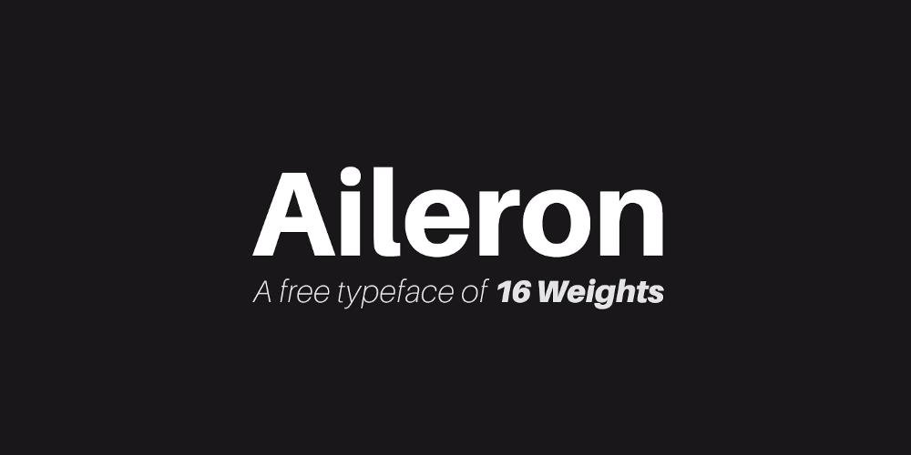 Шрифт Aileron пример