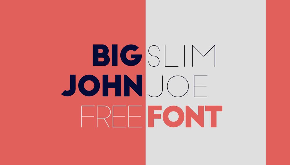 Уникальный шрифт Big John & Slim Joe
