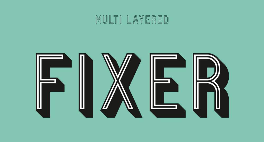 Контурный шрифт Fixer