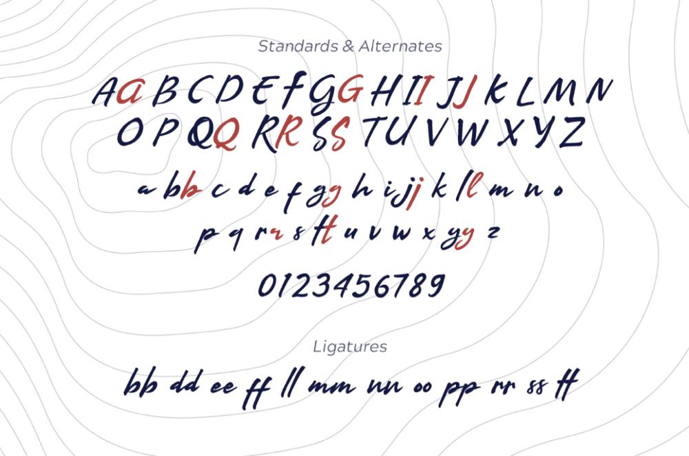 Буквы шрифта Arkipelago