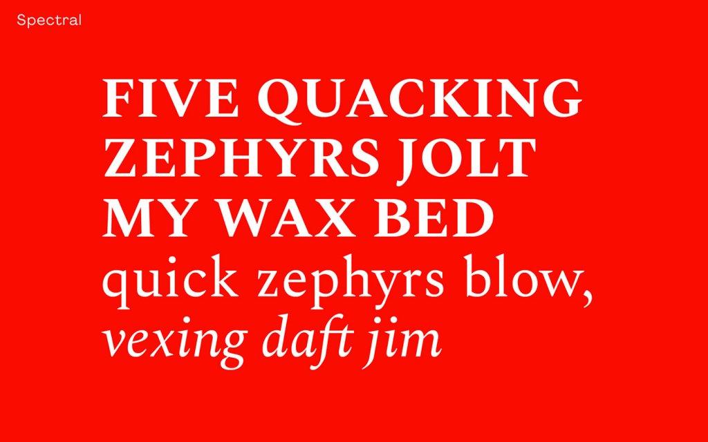 Типографика шрифтом Spectral