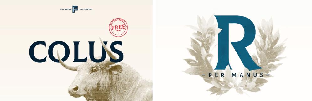 Бесплатный шрифт Colus