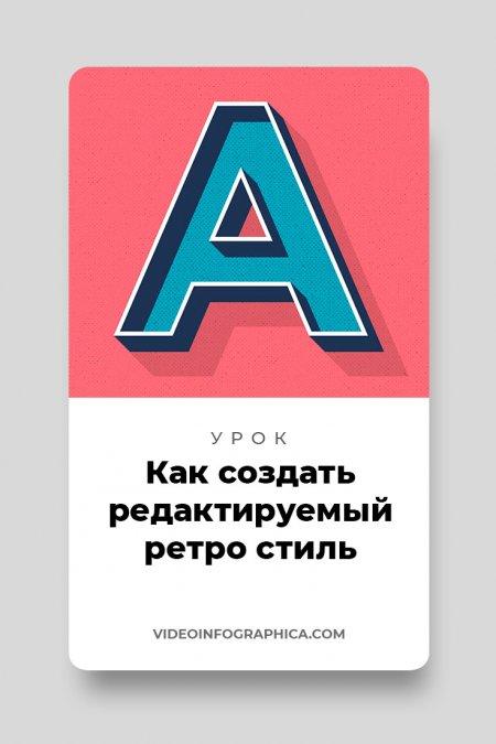 Как создать редактируемый ретро текст в Adobe Illustrator