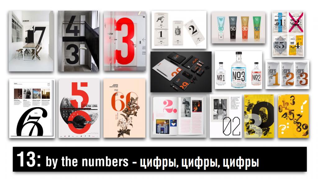 Цифры в дизайне 2019 года