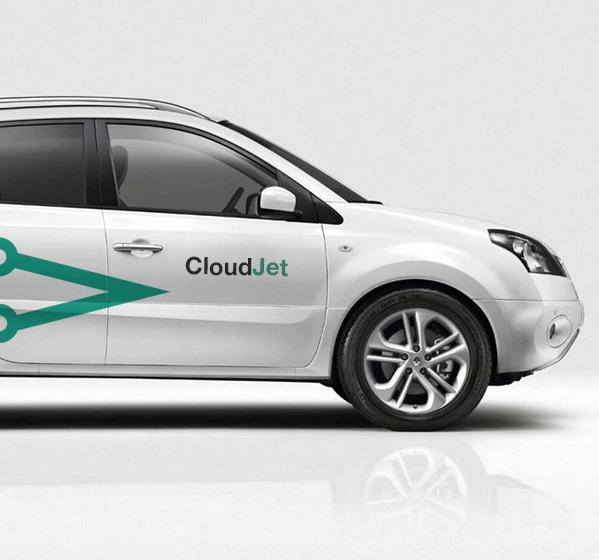 Лого Cloud Jet на автомобиле