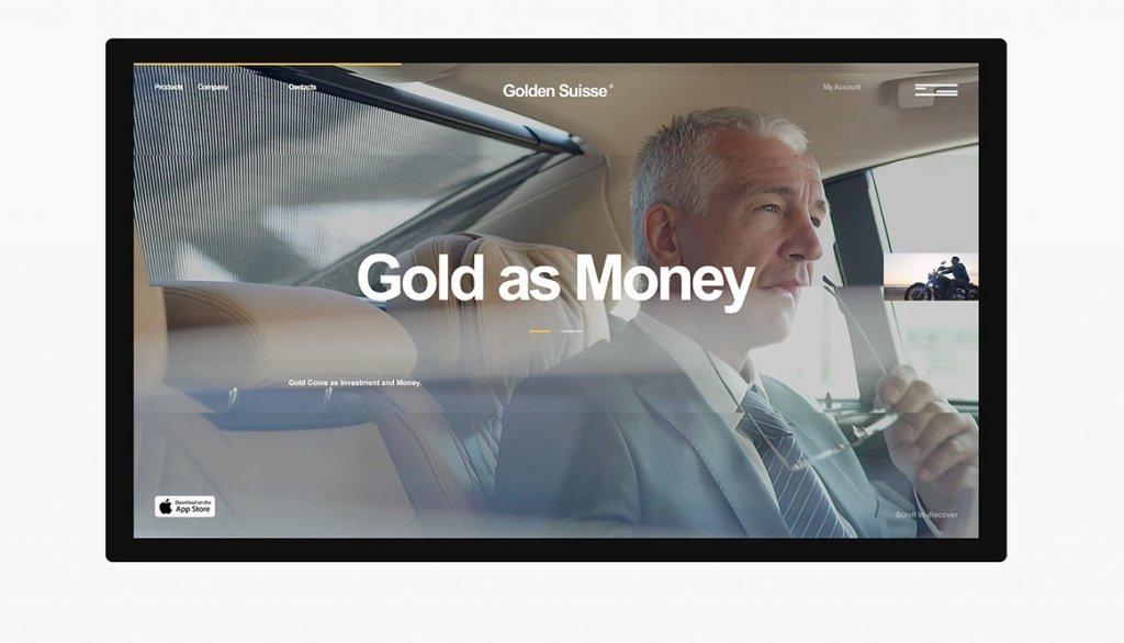 Дизайн сайта Golden Suisse