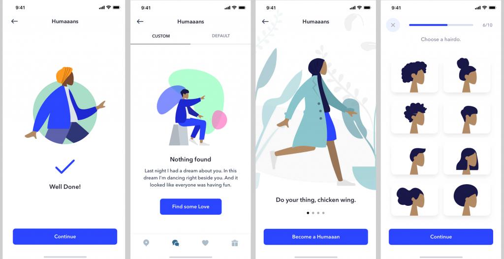 Мобильное приложение Humaaans