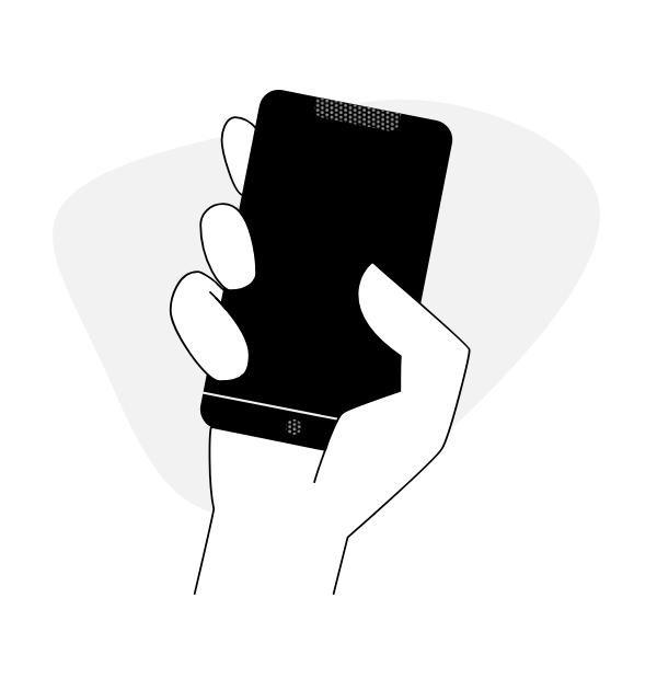 Черно-белый смартфон