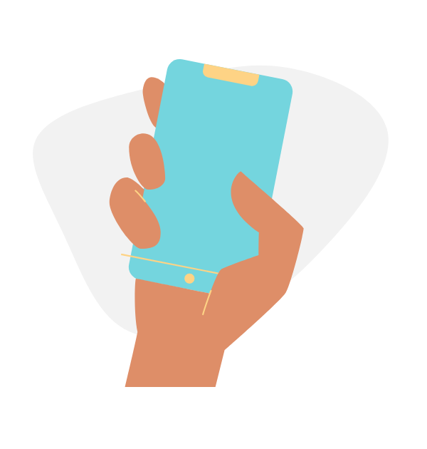 Иллюстрация смартфона от DrawKit