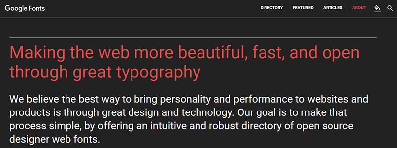 Google Fonts Site