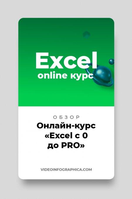 Онлайн-курс «Excel с 0 до PRO» — 20 уроков для обучения Excel
