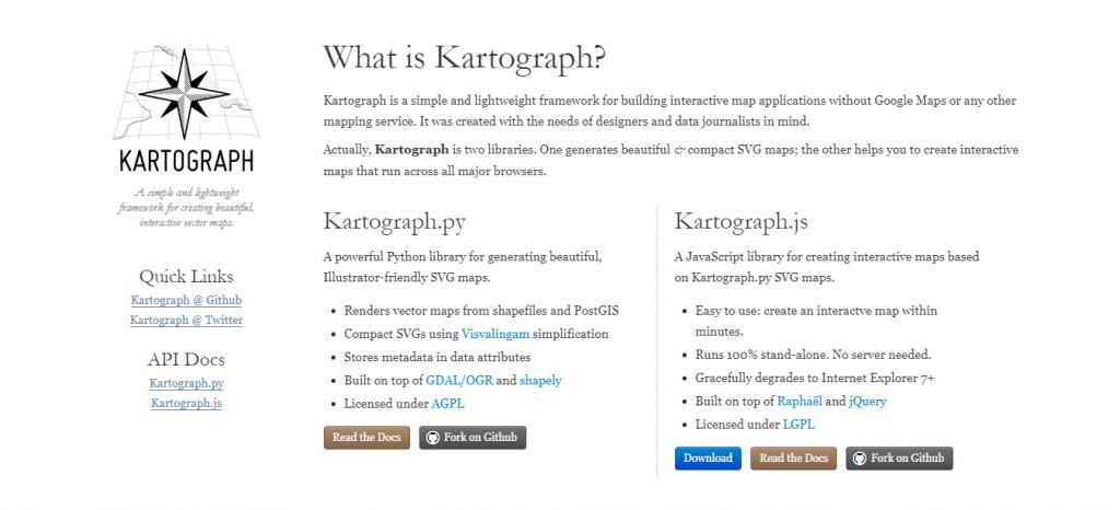 Сервис для создания карт Kartograph