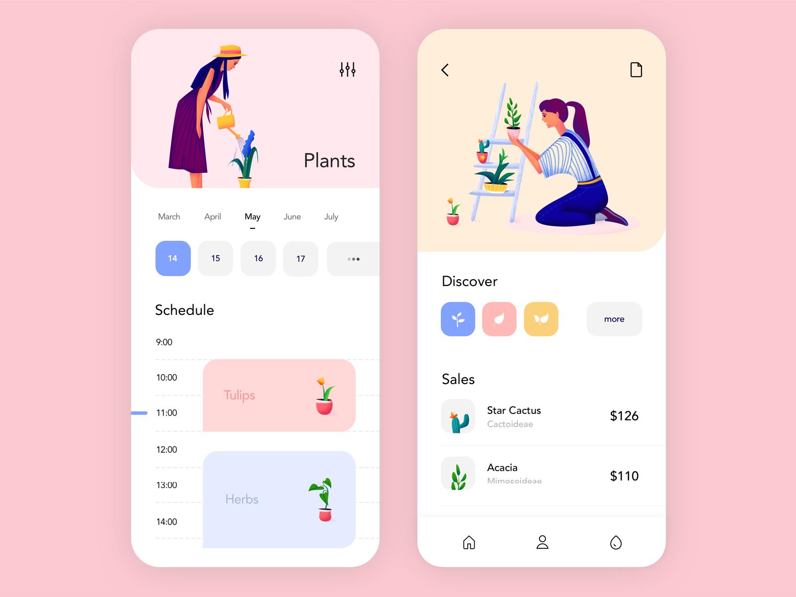 Mobile application — Plants от Outcrowd