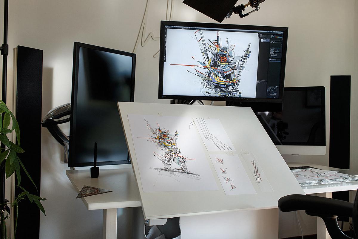 Процесс создания графического дизайна на примере проекта ESTRANGED от Alexis Marcou