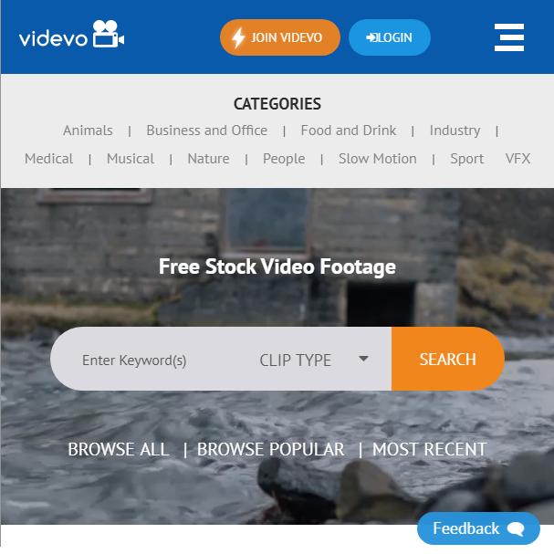 Videvo с бесплатными видео