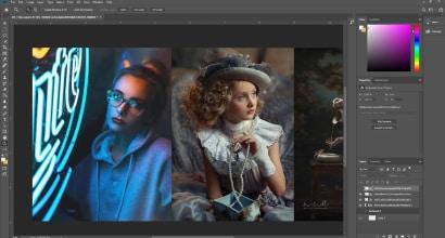 Работа по ретуши портретов