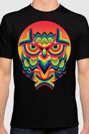 Яркий дизайн футболки