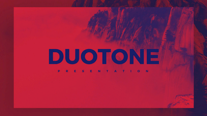 template for presentation Duotone