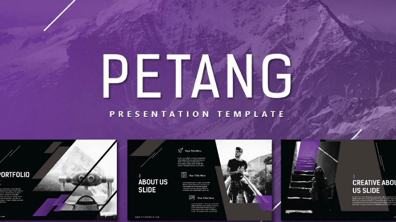 Petang template PowerPoint to download