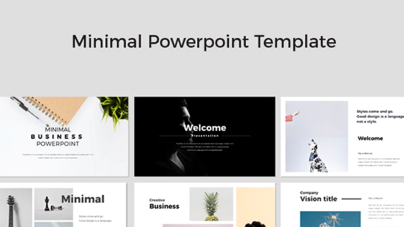 Template Minimal for PowerPoint