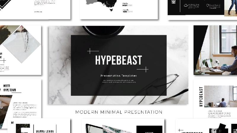 Минималистический шаблон Hypebeast
