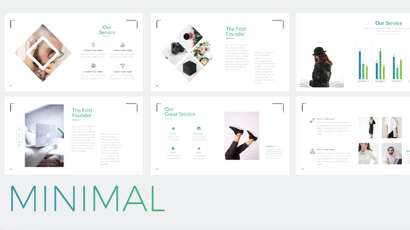 minimal powerpoint template to download