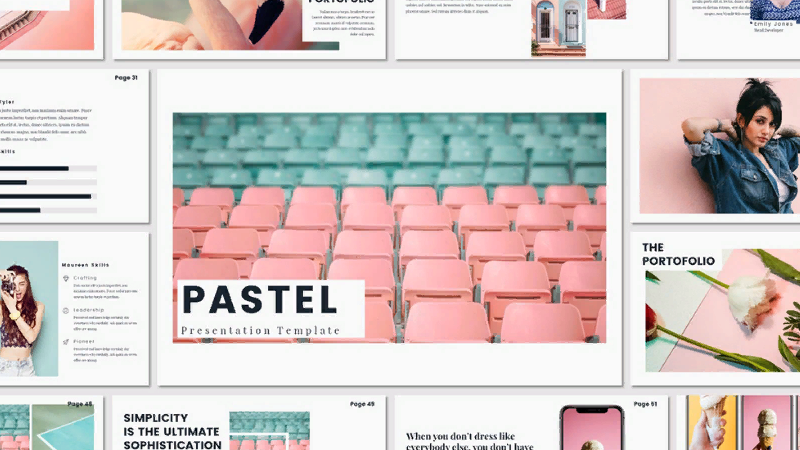 """Pastel"" PowerPoint template"