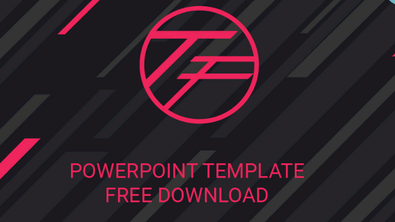 "PowerPoint template ""The First"""