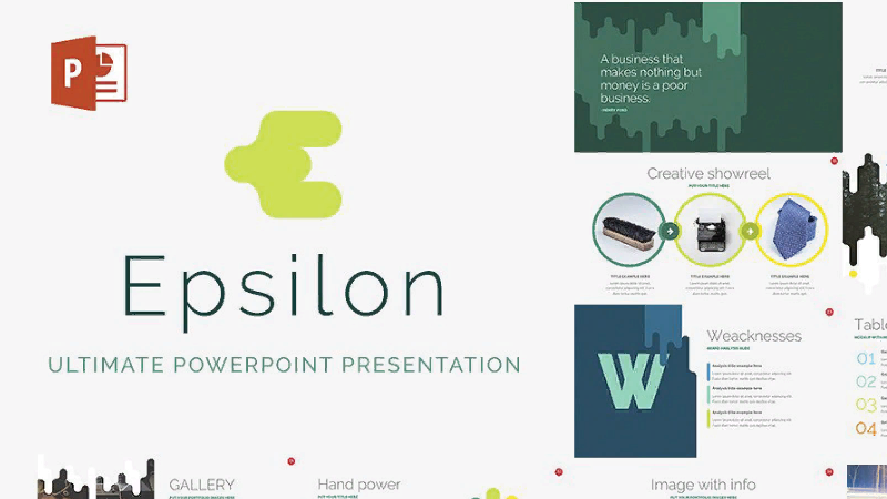 uniq powerpoint template Epsilon
