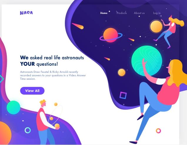 Веб-дизайн НАСА